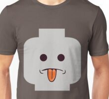 Rude Minifig Face Sticking Tongue Out Unisex T-Shirt