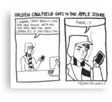 Holden Caulfield Goes To The Apple Store Canvas Print