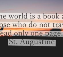 The world is a book Sticker