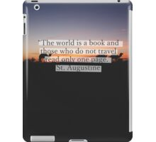 The world is a book iPad Case/Skin