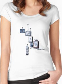 Serie 3/4. Nº 15 Women's Fitted Scoop T-Shirt