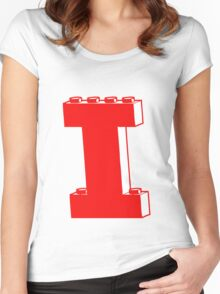 THE LETTER I, Customize My Minifig Women's Fitted Scoop T-Shirt