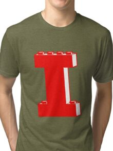 THE LETTER I, Customize My Minifig Tri-blend T-Shirt