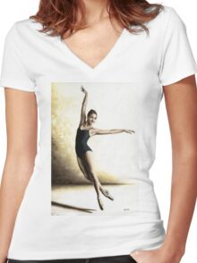 Dance Alive Women's Fitted V-Neck T-Shirt