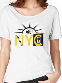 NYC icons collage New York Women's Relaxed Fit T-Shirt