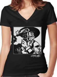 Smile for the Camera!  Women's Fitted V-Neck T-Shirt