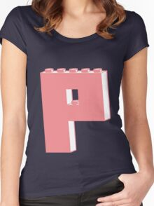 THE LETTER P, Customize My Minifig Women's Fitted Scoop T-Shirt