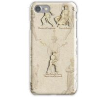 """Grappling and Dagger Positions"" Fiore dei Liberi ""Getty"" iPhone Case/Skin"