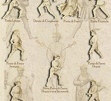 """""""Grappling and Dagger Positions"""" Fiore dei Liberi """"Getty"""" by Tracy Mellow"""