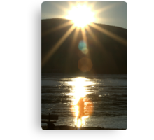 Midnight-Sun Light-Bath Canvas Print