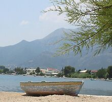 boat in greece by sarahcro123