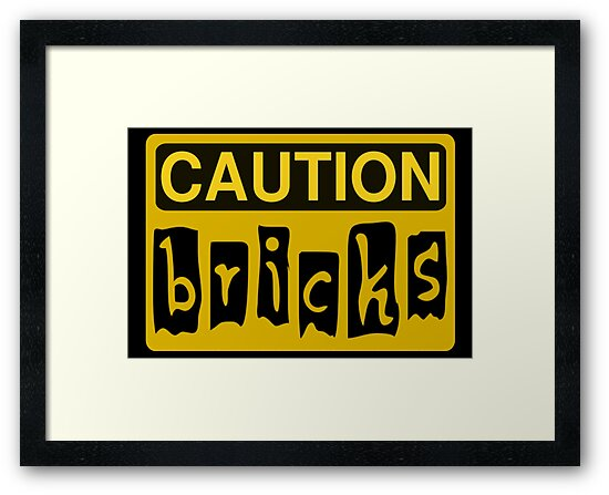 Caution Bricks Sign by Customize My Minifig
