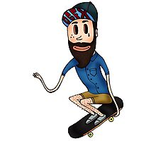 Skateboard Hipster Photographic Print