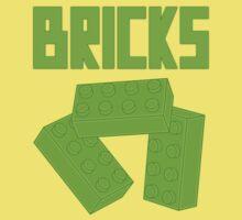 Green Bricks, Customize My Minifig One Piece - Short Sleeve