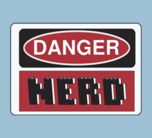 Danger Nerd Sign Baby Tee