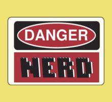 Danger Nerd Sign One Piece - Short Sleeve