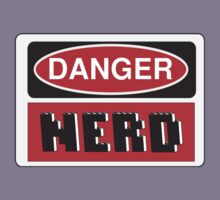 Danger Nerd Sign Kids Tee