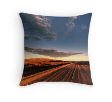 A dirty road in the outback Throw Pillow