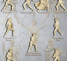 """Grappling and Dagger Positions - Fiore dei Liberi """"Getty"""" by Tracy Mellow"""