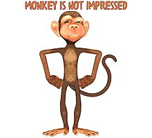 Funny - Monkey Is Not Impressed T Shirt Photographic Print