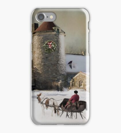 One horse Open Sleigh iPhone Case/Skin