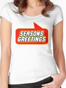 Seasons Greetings, Bubble-Tees.com Women's Fitted Scoop T-Shirt