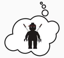 Minifig Ninja, Bubble-Tees.com One Piece - Long Sleeve