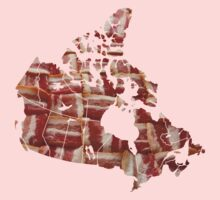 Canada - Canadian Bacon Map - Woven Strips Kids Clothes