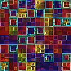 Shiny Futuristic  Squares by Julie Everhart