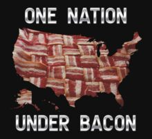 One Nation Under Bacon - USA - American Bacon Map Kids Clothes
