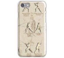 "Longsword Positions - Fiore dei Liberi ""Getty"" iPhone Case/Skin"