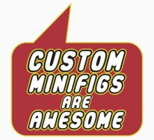 Custom Minifigs are Awesome, Bubble-Tees.com Kids Tee