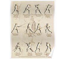 "Longsword Positions - Fiore dei Liberi ""Getty"" Poster"