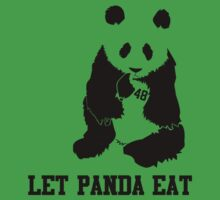 LET PANDA EAT Kids Tee