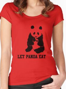 LET PANDA EAT Women's Fitted Scoop T-Shirt