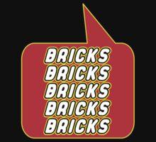 Bricks Bricks Bricks Bricks Bricks, Bubble-Tees.com Kids Tee