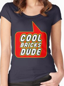 Cool Bricks Dude, Bubble-Tees.com Women's Fitted Scoop T-Shirt