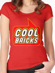 Cool Bricks, Bubble-Tees.com Women's Fitted Scoop T-Shirt