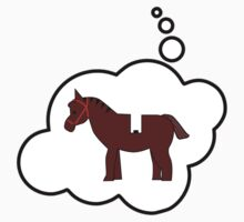 Minifig Horse, Bubble-Tees.com by Bubble-Tees