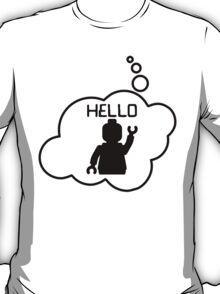Minifig Hello, Bubble-Tees.com T-Shirt