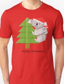 Merry Christmas Origami Koala T-Shirt