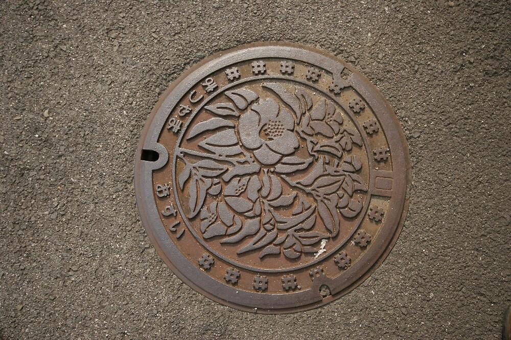 Matsuyama - Manhole cover by Trishy