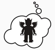 Minifig Greek God, Bubble-Tees.com Kids Tee