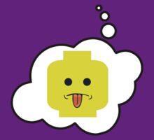 Rude Minifig Head, Bubble-Tees.com by Bubble-Tees
