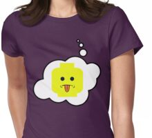 Rude Minifig Head, Bubble-Tees.com Womens Fitted T-Shirt