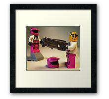 Halo Wars Pink Spartan Soldier Custom Minifigure Framed Print