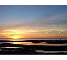 Rhyl Sunset Photographic Print
