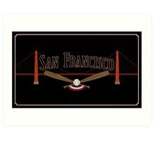 San Francisco Baseball Art Print