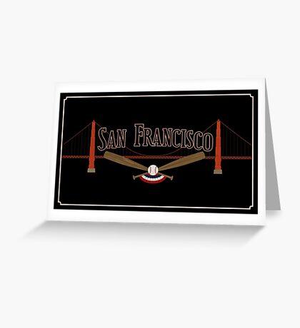 San Francisco Baseball Greeting Card