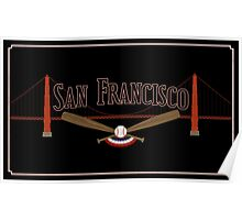 San Francisco Baseball Poster
